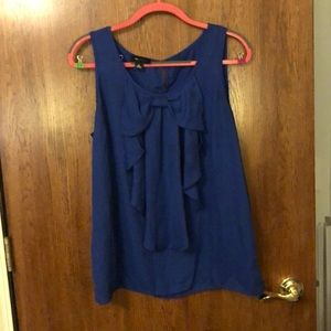 Royal Blue Dress Top with Bow